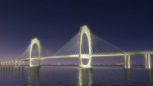 茂名新闻 广东茂名首座跨海大桥 水东湾大桥动工 总投资18亿元 图 茂名